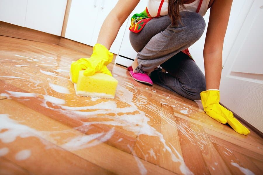 Cleaning with too much water